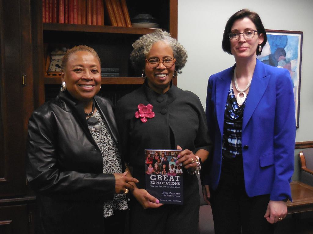 Dr. Loyce Caruthers, Dr. Gloria Ladson-Billings, and Dr. Jennifer Friend
