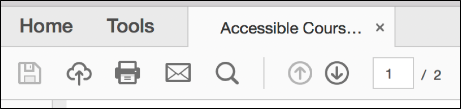 Select the tools tab in adobe acrobat.