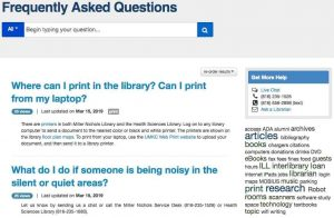 UMKC Libraries FAQ Graphic