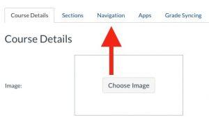 Organize Course Menu Graphic